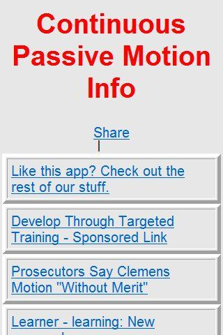 CPM continuous passive motion