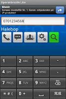 Screenshot of Operatörssök Lite
