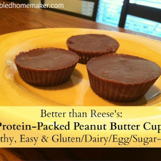 Homemade Protein-Packed Peanut Butter Cups {Healthy, Easy & Sugar Free!}