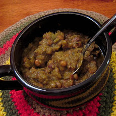 Canadian Bacon Split Pea & Lentil Soup (Crock Pot)
