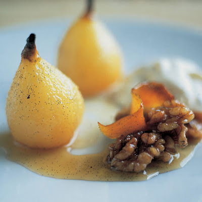 Baked Pears With Wine & A Scrumptious Walnut Cream