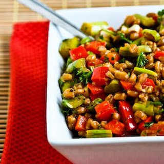 Farro Salad with Asparagus, Red Bell Pepper, and Sun-Dried Tomato Vinaigrette