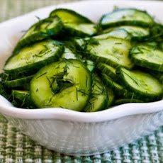 Sweet and Sour Cucumber Salad with Fresh Dill