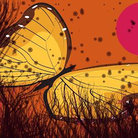 Fly by Krunoslav Kotik - Illustration Abstract & Patterns ( digital art, illustration, web, insect, design )