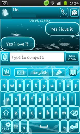 Go Keyboard Fairy Blue
