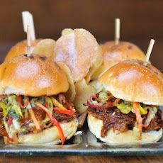 Jägermeister BBQ'd Pulled Pork Sliders with Jicama-Avocado Slaw