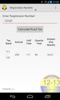 Screenshot of Motor Tax Calculator