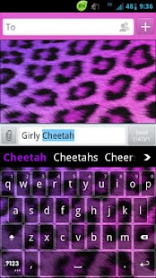 GO Keyboard Girly Cheetah - screenshot