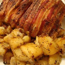 Bacon-Roasted Chicken with Potatoes