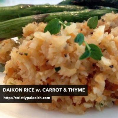 Daikon Rice With Carrot And Thyme