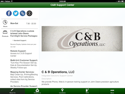 C & B Support Center - screenshot