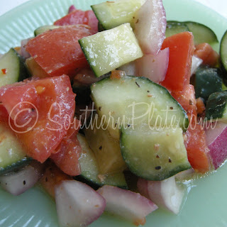 Cucumber And Tomato Salad With Italian Dressing Recipes