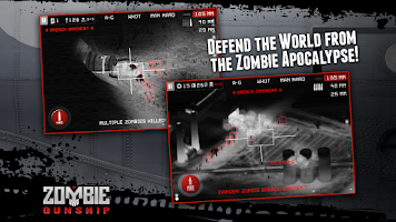 Screenshot of Zombie Gunship: Gun Dead 3D