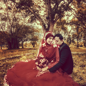 vintagemantic by Dimas Winarto - Wedding Bride & Groom ( wedding bridge groom romantic vintage sweet )