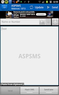 WebSMS: ASPSMS Connector - screenshot
