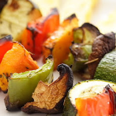 Grilled Vegetables on Skewers