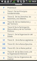 Screenshot of Colombia Constitution