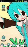 Screenshot of GO Launcher EX Theme -Miku-