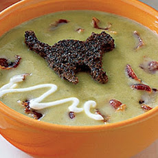 Pea Soup With Black-Cat Croutons  -  W