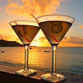 Peaceful St. Maarten by ~Gwendolyn~ Model - Food & Drink Alcohol & Drinks ( blue, orange. color,  )