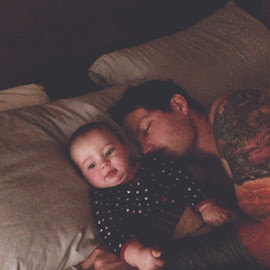 Cuddle Time by Julianne Cyr - Instagram & Mobile iPhone ( love, daddy, daughter, cuddly, baby, cuddle )