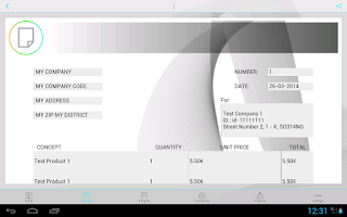 Screenshot of Invoices with iFacturas