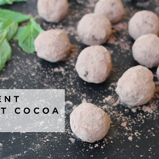 4 Ingredient Vegan Mint Cocoa Truffles