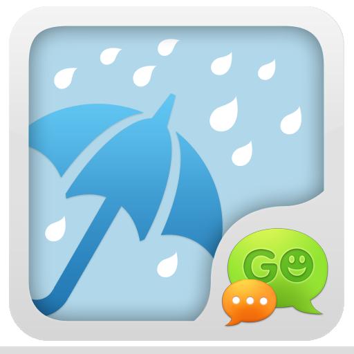 GO短信雨天主题 通訊 App LOGO-APP試玩