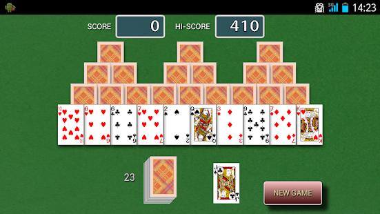 tri peaks solitaire network