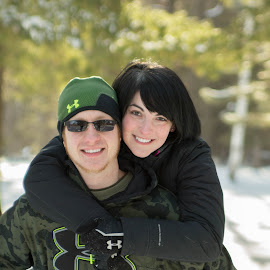 winter love by Rebecca Koch - People Couples ( love, winter, snow, couple, smile, portrait )