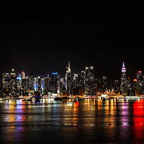 NYC by Sandra Clukey - City,  Street & Park  Skylines