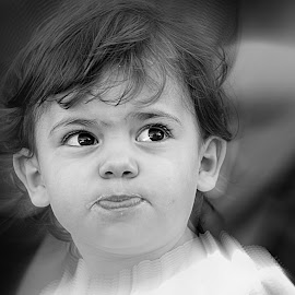 Mad... by Jose Candeias - Babies & Children Child Portraits ( girl, black and white, children, people )