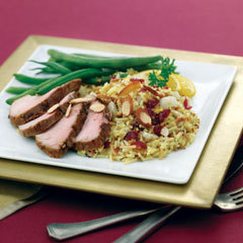 Roast Pork With Fennel & Cran-orange Rice