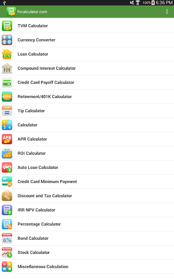 Financial Calculators Pro Screenshot 8