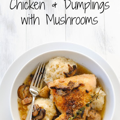 Chicken and Dumplings with Mushrooms