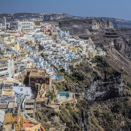 Hillside town by Vibeke Friis - Landscapes Travel ( fira, santorini,  )