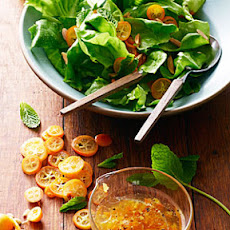 Kumquat Mint Salad with Jasmine Dressing
