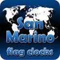 San Marino flag clocks icon