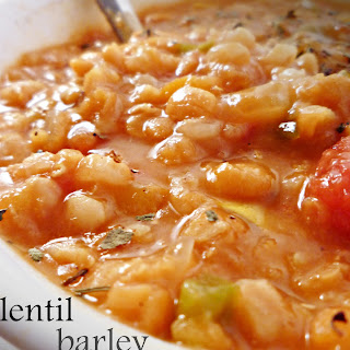 Lentil Vegetable Barley Soup (Crock pot)