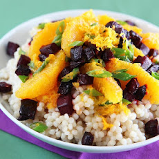 Beet & Orange Salad with Israeli Couscous