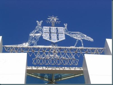 Coat of arms at Parliament House