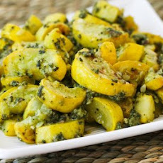 Roasted Yellow Summer Squash with Sage Pesto