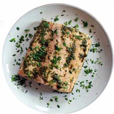 Salmon with Cilantro Sauce
