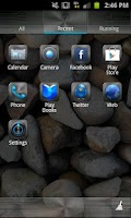 Screenshot of Metallic Theme GO Launcher EX