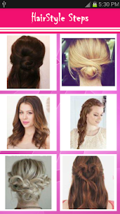 Girls Hairstyle Steps - screenshot