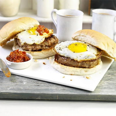 Sausage & Egg Baps With Spicy Tomato Sauce