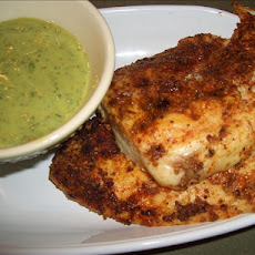 Spice Rubbed Chicken Breasts W/ Spicy-Cool Mint Sauce