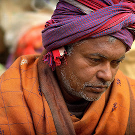 Street Musician by Prasanta Das - People Musicians & Entertainers ( street, musician, portrait )