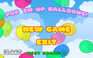 Screenshot of Pop 'Em Up Balloons!