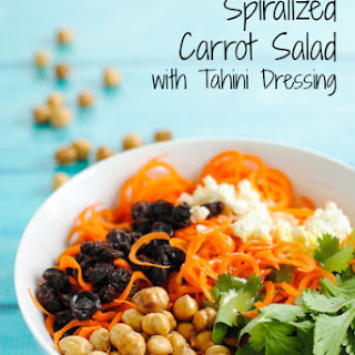 Spiralized Carrot Salad with Tahini Dressing